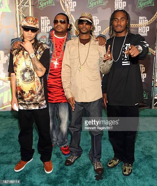 Bone ThugsNHarmony attend the BET Hip Hop Awards 2013 at Boisfeuillet Jones Atlanta Civic Center on September 28 2013 in Atlanta Georgia