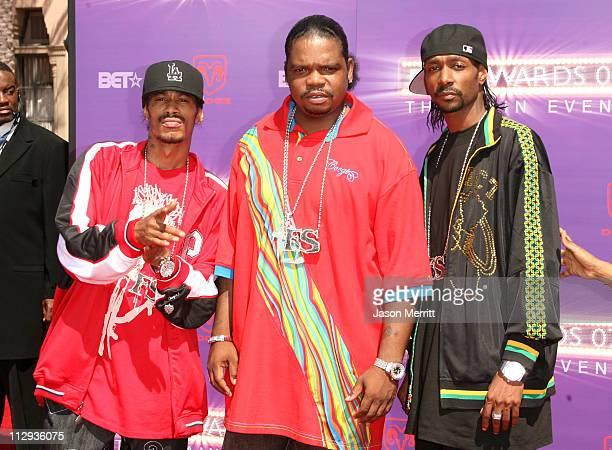 Bone ThugsNHarmony during BET Awards 2007 Arrivals at Shrine Auditorium in Los Angeles California United States