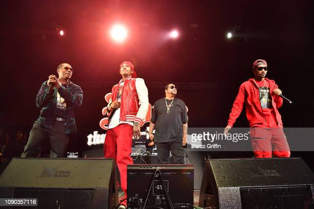 Bone ThugsnHarmony perform onstage during Puff Puff Pass Tour Snoop Dogg Friends at State Farm Arena on January 05 2019 in Atlanta Georgia