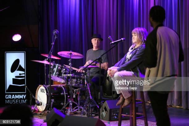 J Bonebrake and Exene Cervenkaa speak with GRAMMY Museum Education Coordinator Schyler O'Neal at Backstage Pass X's DJ Bonebrake and Exene Cervenkaa...