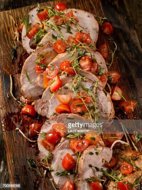 boneless pork rib roast - side salad stock pictures, royalty-free photos & images