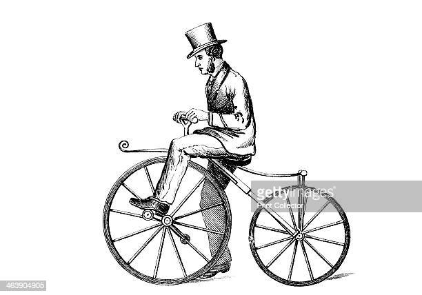 'Boneshaker' bicycle c1870 The boneshaker was a type of pedaldriven bicycle popular around 1870 The design was essentially a modification of the...