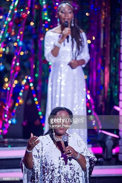 Boney M perform during the 'Heiligabend mit Carmen Nebel' TV show at Bavaria Filmstudios on November 26 2015 in Munich Germany