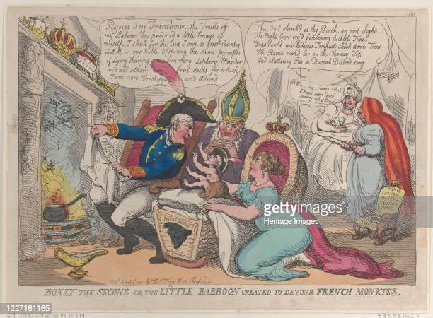 Boney The Second or the Little Babboon Created to Devour French Monkies, April 9, 1811. Artist Thomas Rowlandson.
