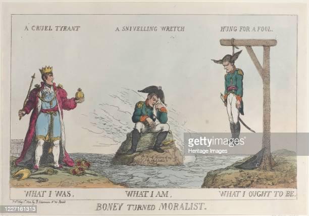 Boney Turned Moralist May 1 1814 Artist Thomas Rowlandson