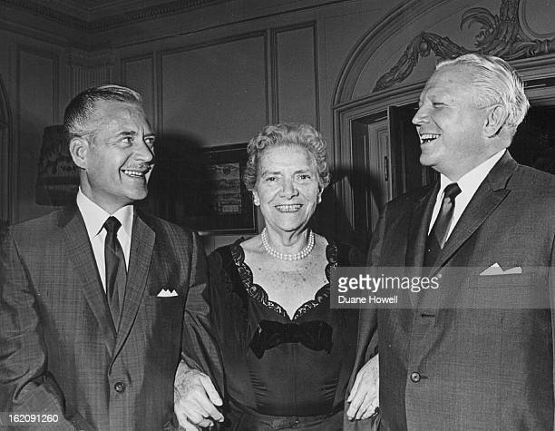 SEP 9 1965 SEP 10 1965 Bonfils Theatre Opening Night Set For Oct 7 Harry Geldard left Bonfils Theatre producerdirector chats with Princess Leon...