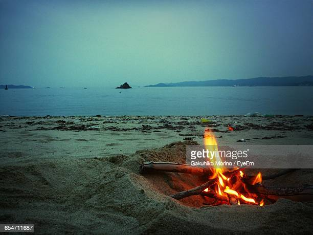 Bonfire At Beach