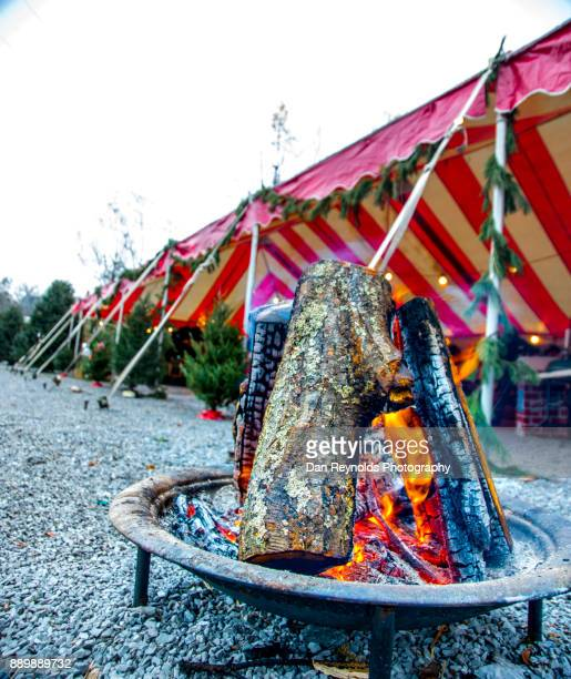 Bonfire at Christmas Market