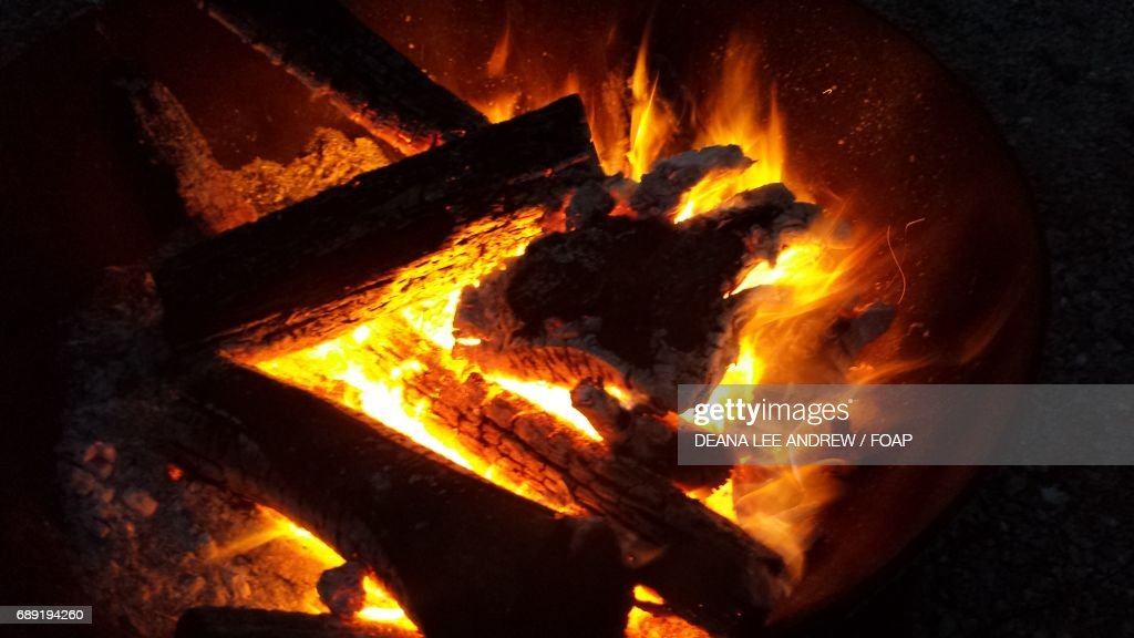 Bonfire at night : Stock Photo