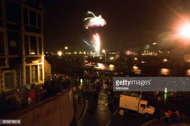 Bonfire celebrations at Stockton's Riverside 5th November 1996