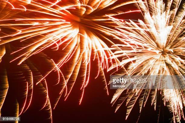 Bonfire Night Skinningrove North Yorkshire England Wednesday 5th November 1997