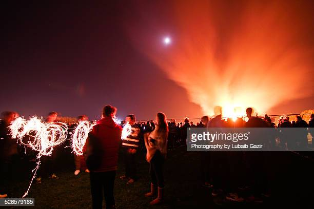 bonfire night, uk - guy fawkes day stock photos and pictures