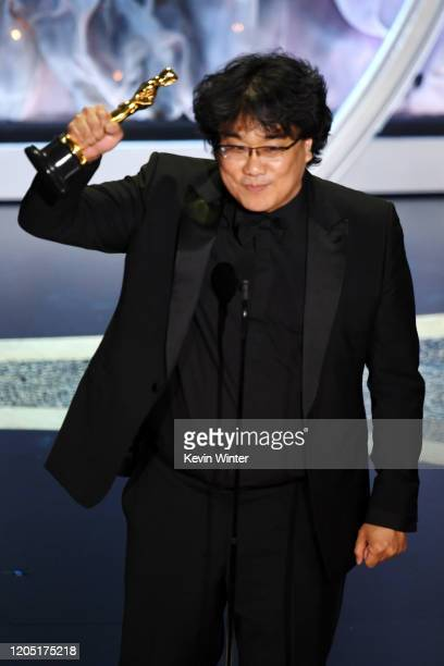 Bong Joonho accepts the Directing award for 'Parasite' onstage during the 92nd Annual Academy Awards at Dolby Theatre on February 09 2020 in...