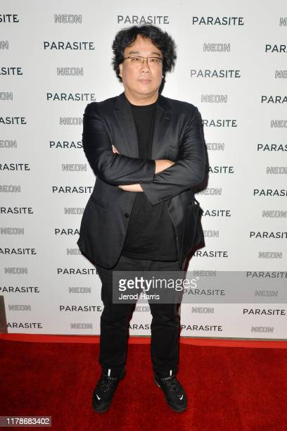Bong Joonho arrives at Neon Presents Los Angeles Premiere of 'Parasite' at ArcLight Hollywood on October 02 2019 in Hollywood California