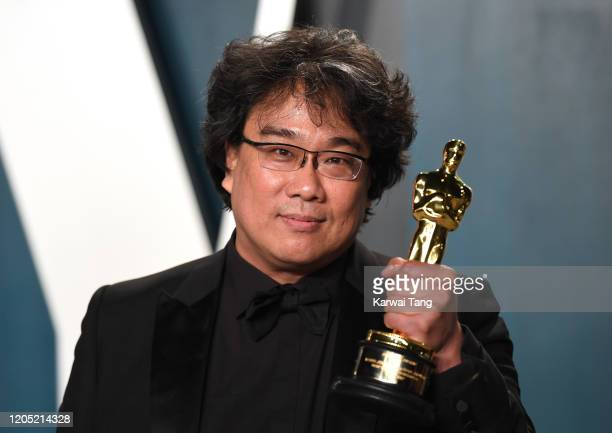 Bong Joonho arriving for the 2020 Vanity Fair Oscar Party Hosted By Radhika Jones at the Wallis Annenberg Center for the Performing Arts on February...