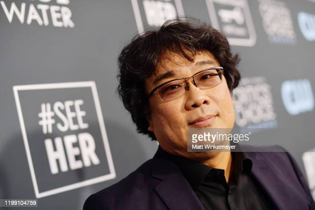 Bong Joonho attends the 25th Annual Critics' Choice Awards at Barker Hangar on January 12 2020 in Santa Monica California