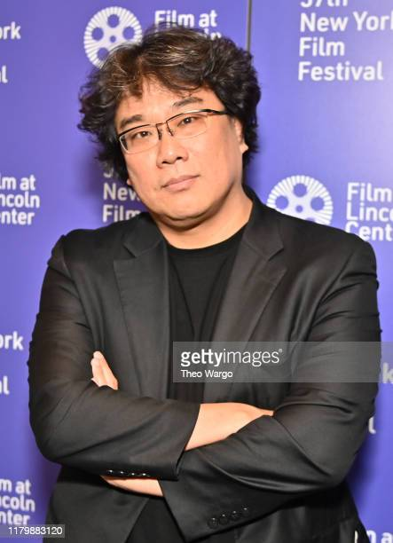 Bong Joonho attends the 57th New York Film Festival Directors Dialogue Bong Joonho at Francesca Beale Theater on October 08 2019 in New York City