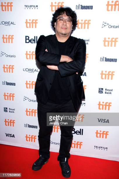 """Bong Joon-ho attends the """"Parasite"""" premiere during the 2019 Toronto International Film Festival at Ryerson Theatre on September 06, 2019 in Toronto,..."""