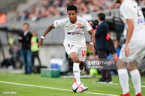 Bongani Zungu of Amiens during Ligue 1 match between Amiens and Reims on August 25 2018 in Amiens France
