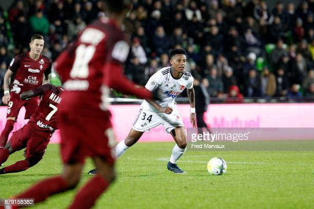 Bongani Zungu of Amiens during the Ligue 1 match between Metz and Amiens SC at on November 25 2017 in Metz
