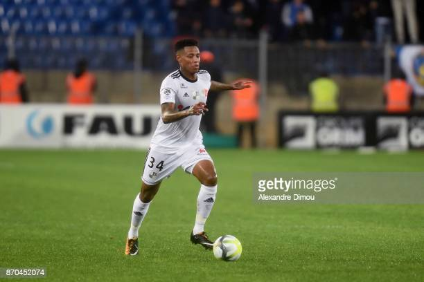 Bongani Zungu of Amiens during the Ligue 1 match between Montpellier Herault SC and Amiens SC at Stade de la Mosson on November 4 2017 in Montpellier