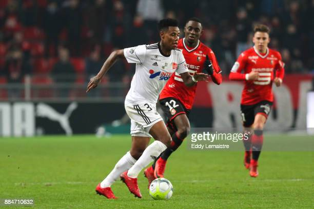 Bongani Zungu of Amiens during the Ligue 1 match between Stade Rennais and Amiens SC at Roazhon Park on December 2 2017 in Rennes