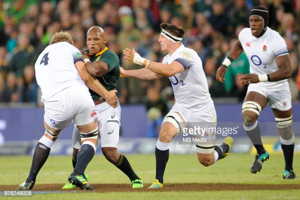 Bongi Mbonambi of the Springboks during the second test match between South Africa and England at Toyota Stadium on June 16 2018 in Bloemfontein...