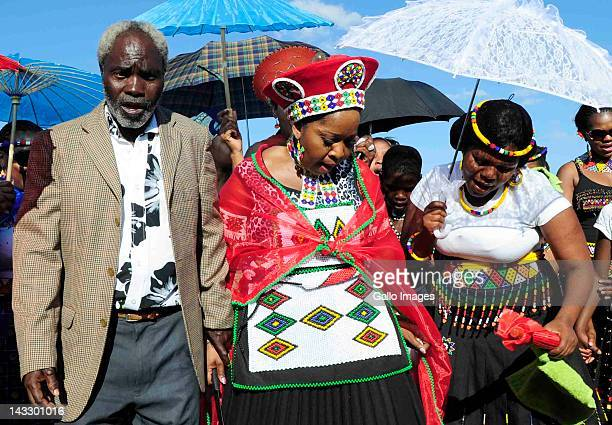 Bongi Ngema during her wedding to President Jacob Zuma held in on April 20 2012 in Nkandla South Africa The president who has been married six times...