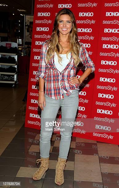 Bongo spokesmodel Audrina Patridge poses during a special appearance at Sears Cerritos on September 28 2011 in Cerritos California