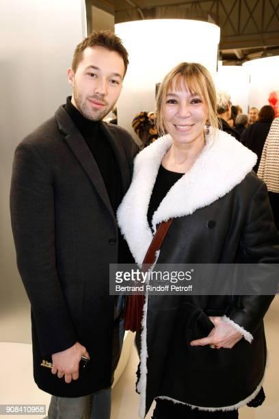 Boni Reiffers and his mother Victoire de Castellane attend the 'Azzedine Alaia Je Suis Couturier' Exhibition as part of Paris Fashion Week Held at...
