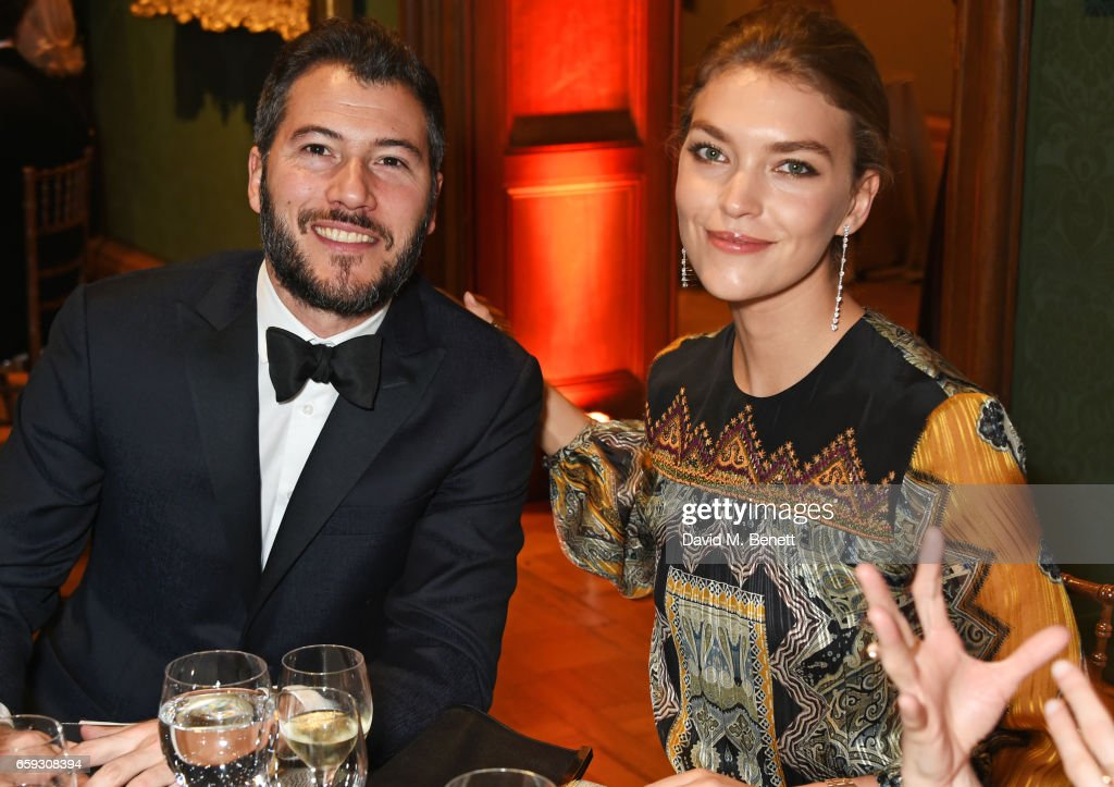 Boniface Verney Carron (L) and Arizona Muse attend the Portrait Gala 2017 sponsored by William & Son at the National Portrait Gallery on March 28, 2017 in London, England.