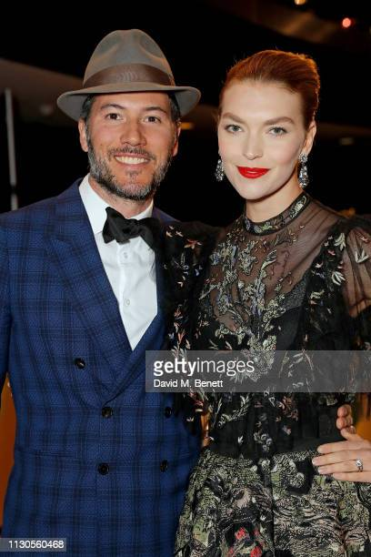 Boniface VerneyCarron and Arizona Muse attend Naked Heart Foundation's Fund Fair with LuisaViaRoma at The Roundhouse on February 18 2019 in London...