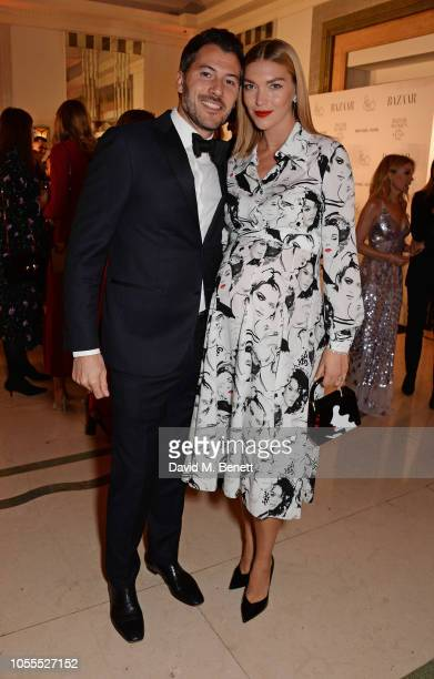 Boniface VerneyCarron and Arizona Muse attend the Harper's Bazaar Women Of The Year Awards 2018 in partnership with Michael Kors and MercedesBenz at...