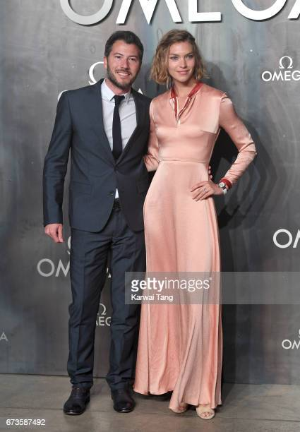 Boniface VerneyCarron and Arizona Muse attend the Lost In Space event to celebrate the 60th anniversary of the OMEGA Speedmaster at the Tate Modern...