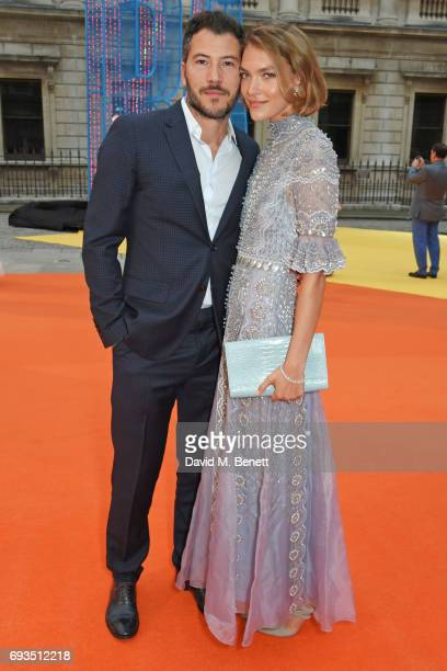 Boniface VerneyCarron and Arizona Muse attend the Royal Academy Of Arts Summer Exhibition preview party at Royal Academy of Arts on June 7 2017 in...