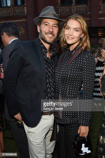 Boniface VerneyCarron and Arizona Muse attend the Summer Party at the VA in partnership with Harrods at the Victoria and Albert Museum on June 20...