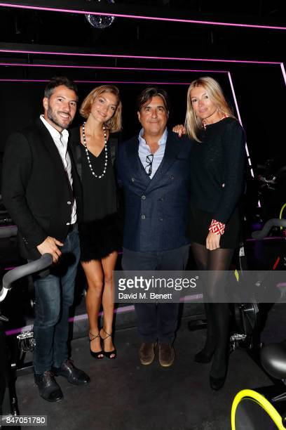 Boniface VerneyCarron Arizona Muse Peter Dubens and Amy Gardner attend KXU VIP launch on September 14 2017 in London England