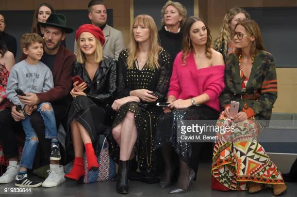 Boniface VerneyCarron Nikko Muse Tess Ward Jade Parfitt Amber Le Bon and Yasmin Le Bon attend Temperley London Fashion Show Fall/Winter 18 during...