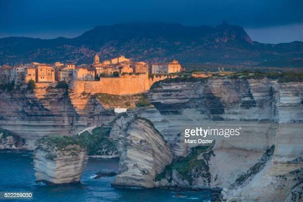 Bonifacio cliff and the sand grain