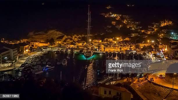 Bonifacio harbor at night