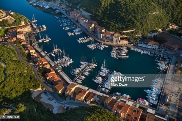 Bonifacio marina and old town