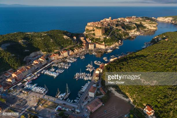 Bonifacio marina and old town