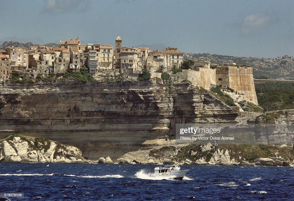 Bonifacio on the Cliffs : Foto de stock
