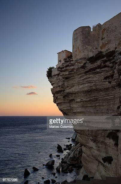 Bonifacio overlooking the Mediterranean sea