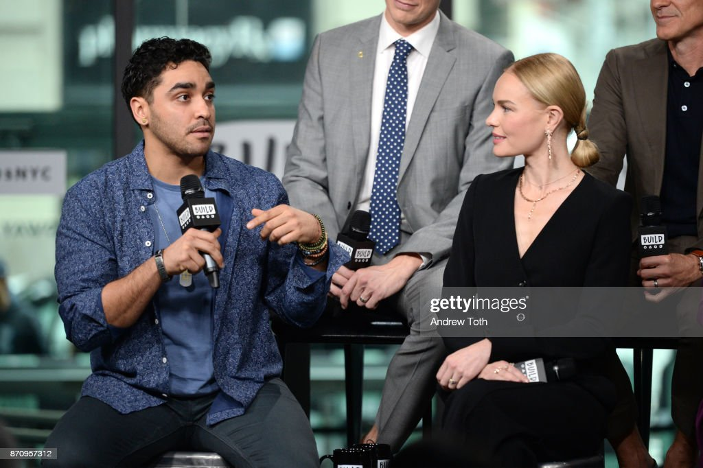 E.J. Bonilla and Kate Bosworth attend Build Presents the cast of 'The Long Road Home' at Build Studio on November 6, 2017 in New York City.