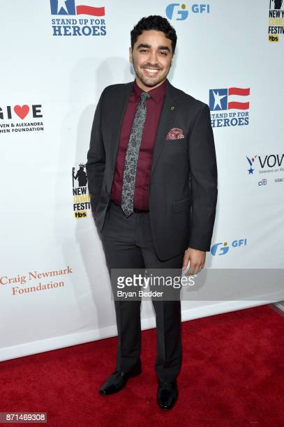 J Bonilla attends the 11th Annual Stand Up for Heroes Event presented by The New York Comedy Festival and The Bob Woodruff Foundation at The Theater...