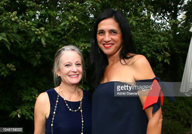 Bonita DeWolf and Antonella Bertello attend the Reception for Alan Alda at Baker House on October 4 2018 in East Hampton New York