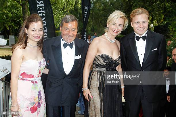 Bonita Grupp and her father Wolfgang Grupp her mother Elisabeth Grupp and her brother Wolfgang Grupp attend the Bayreuth Festival 2015 Opening on...