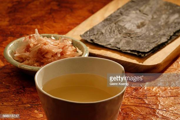 Bonito Flakes and Konbu Seaweed Dashi was photographed at the Los Angeles Times studio on January 12 2012