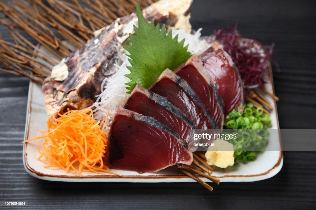 Bonito Sashimi Plate : Stock Photo